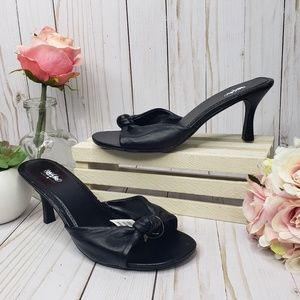 Mossimo Black Leather Stiletto Sandals